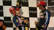 1st place Sebastian Vettel (GER), Red Bull Racing - Formula 1 World Championship, Rd 17, Abu Dhabi Grand Prix, Sunday Podium, 01.11.2009 Abu Dhabi, United Arab Emirates