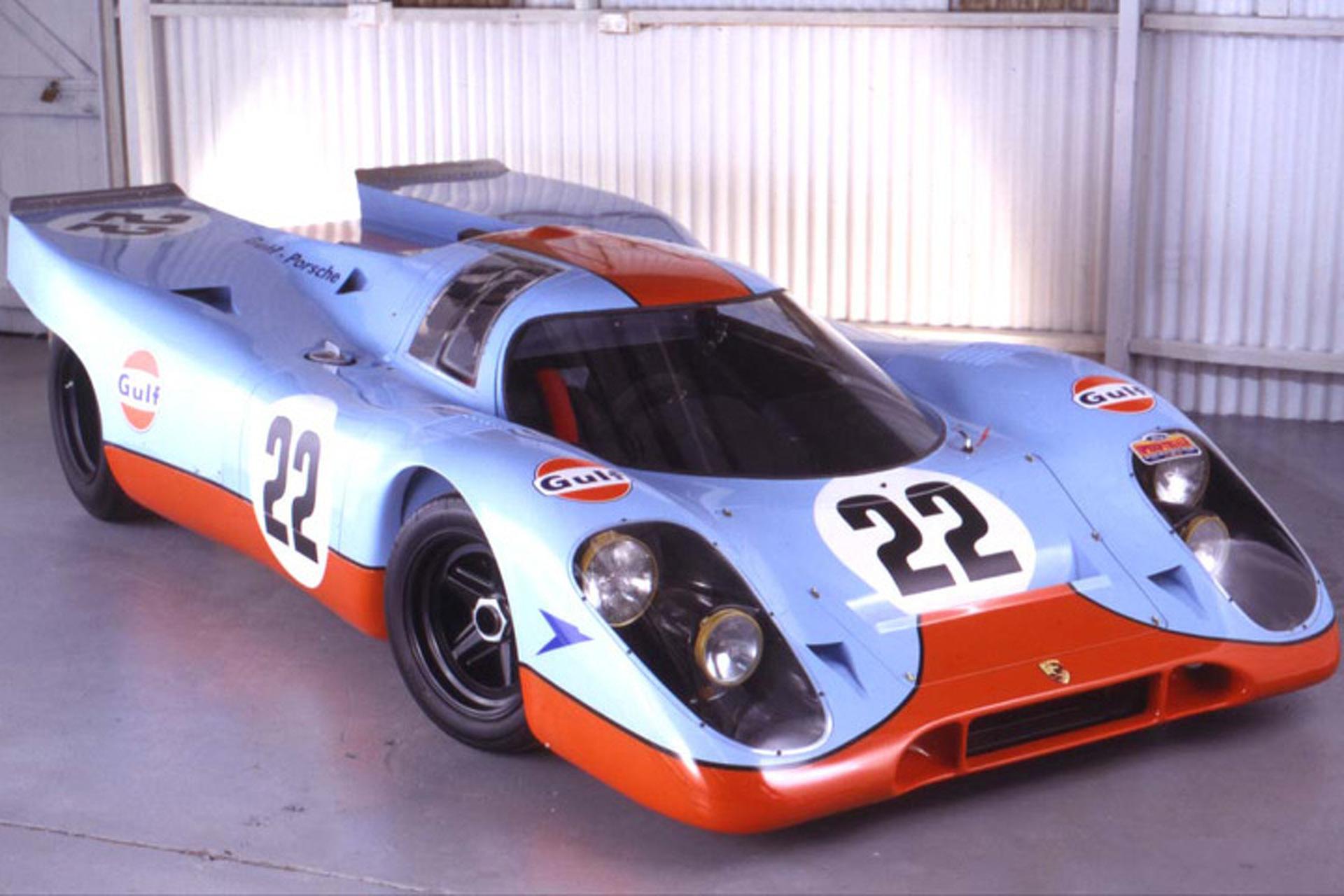 Across the Block: #22 Gulf Porsche 917 from Le Mans Film