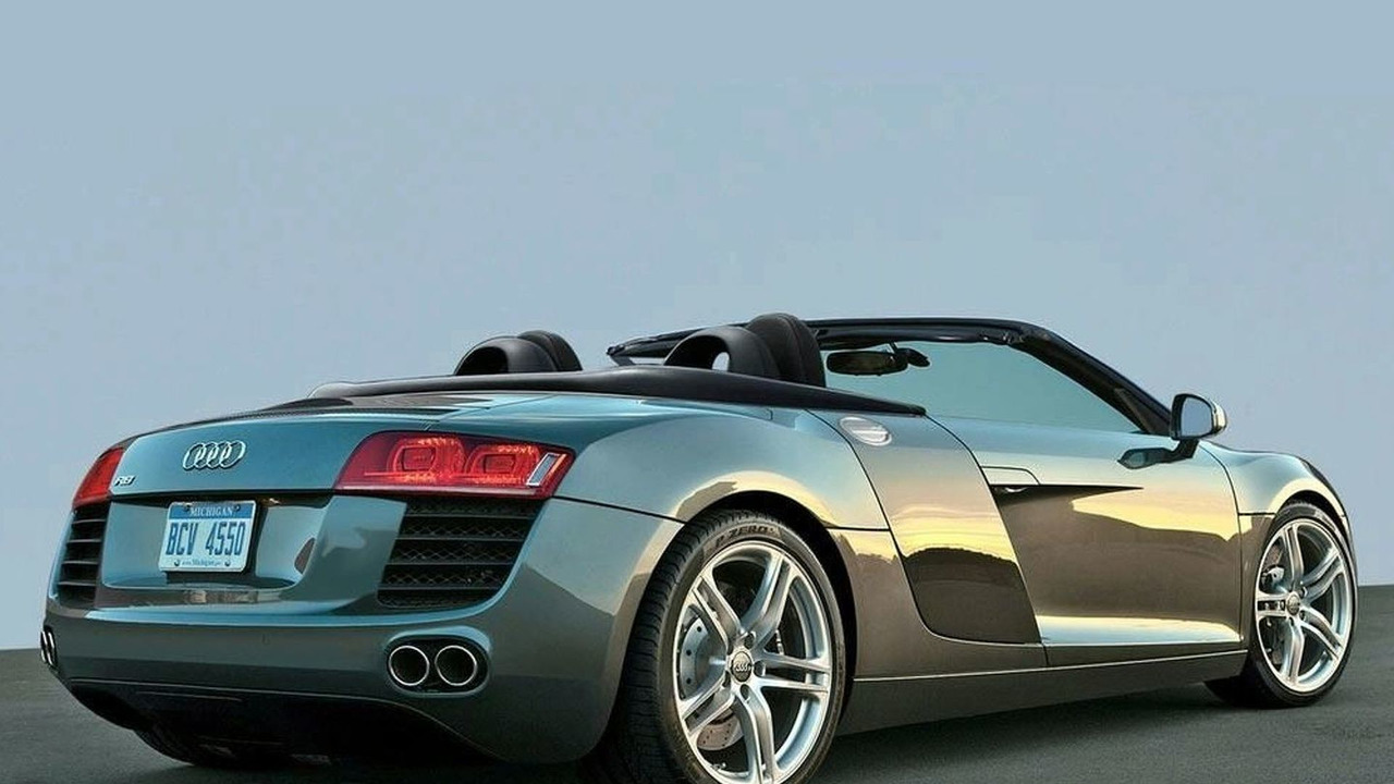 Audi R8 Spider Artists Rendering
