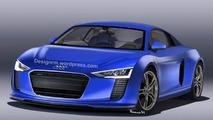 Next-gen Audi R8 rendered, looks like a bigger TT