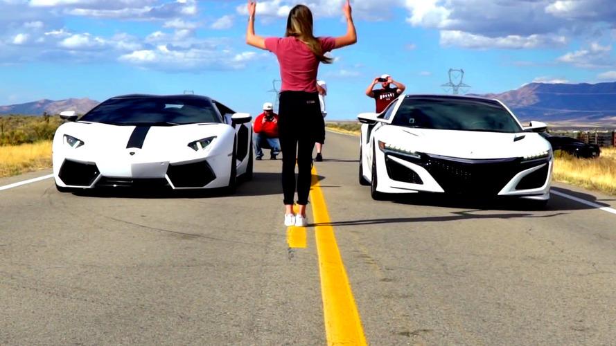 Is an Acura NSX quicker than a Lamborghini Aventador