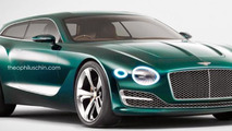 Bentley EXP 10 Speed 6 concept rendered into a shooting brake