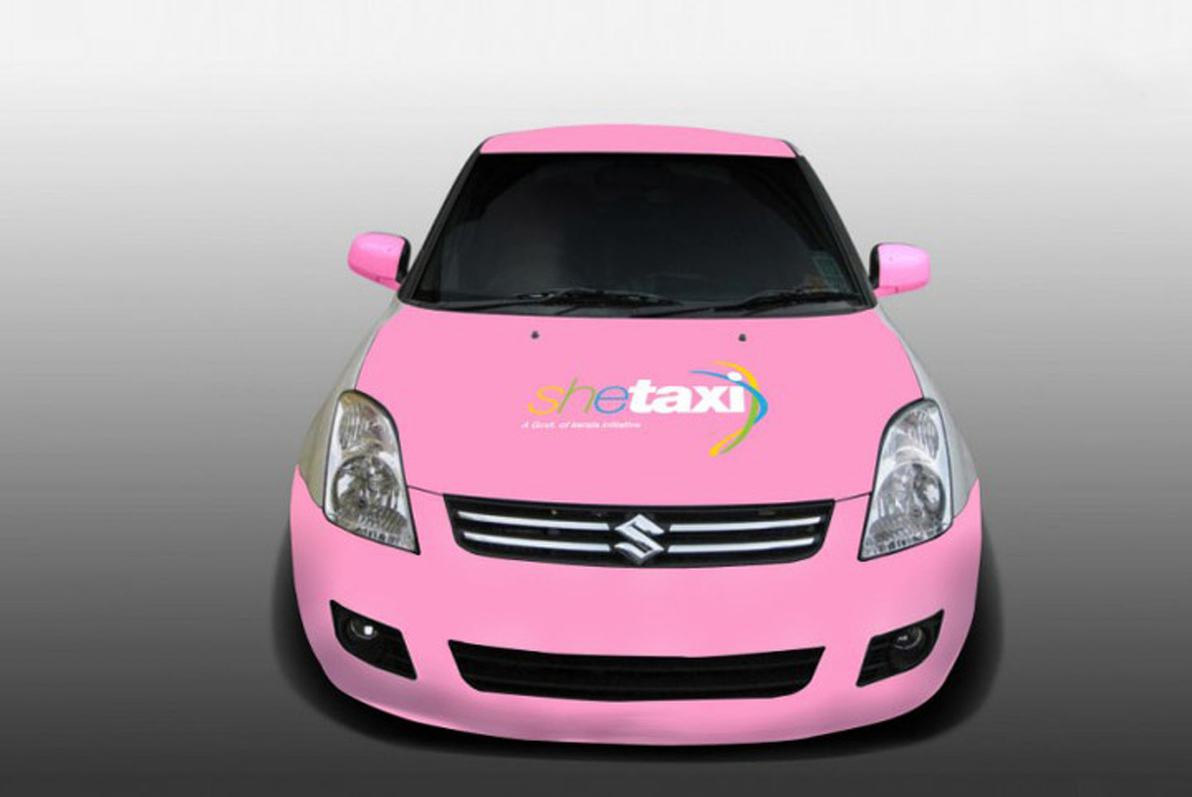 Only Women Can Drive and Ride in this Taxi