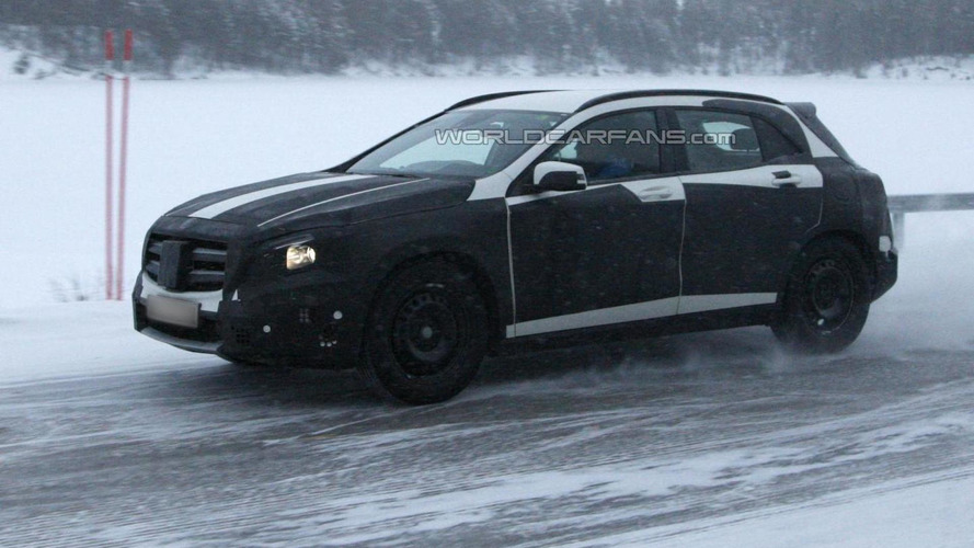 Mercedes-Benz GLA spied during cold weather testing