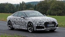 Audi RS5 spied with production front end under camouflage
