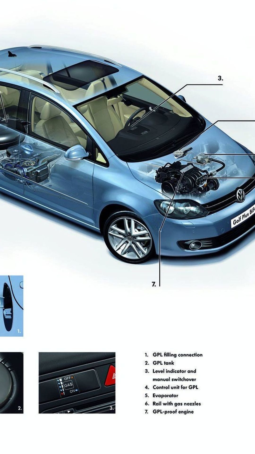 VW Reveals Golf Plus BiFuel - LPG or Petrol