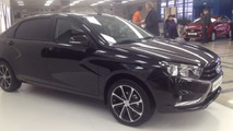 Long wheelbase Lada Vesta photographed in Russia