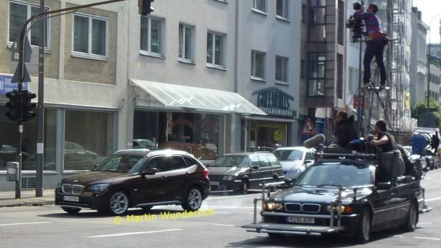 BMW X1 Caught Completely Undisguised during Photoshoot