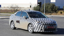 Fully camouflaged Citroen compact sedan spied for the first time