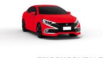 Mitsubishi Lancer rendering / Enoch Gonzales