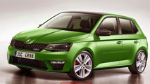 2015 Skoda Fabia vRS rendered, but won't be produced
