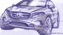 Mercedes-Benz teases 2014 GLA via design sketches