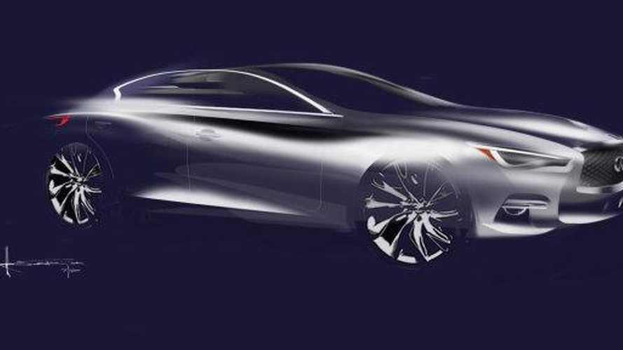 Mysterious Infiniti four-door coupe sketch surfaces online