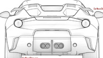 Ferrari F12 Spider patent sketches (not confirmed) 08.11.2013