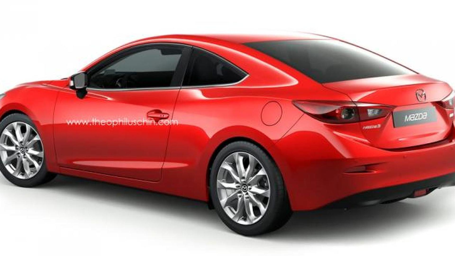 2014 Mazda3 envisioned as a coupe