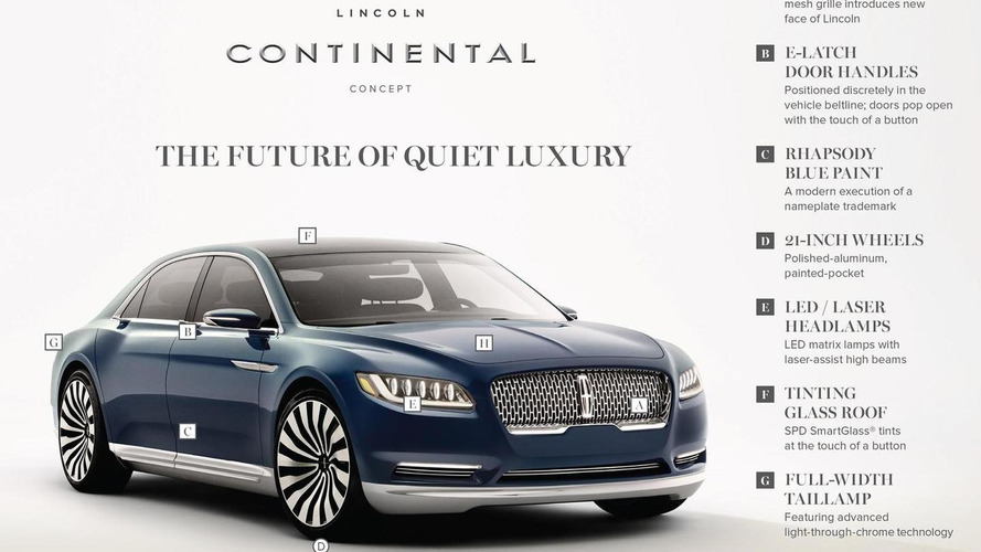 2015 Lincoln Continental concept breaks cover [videos]