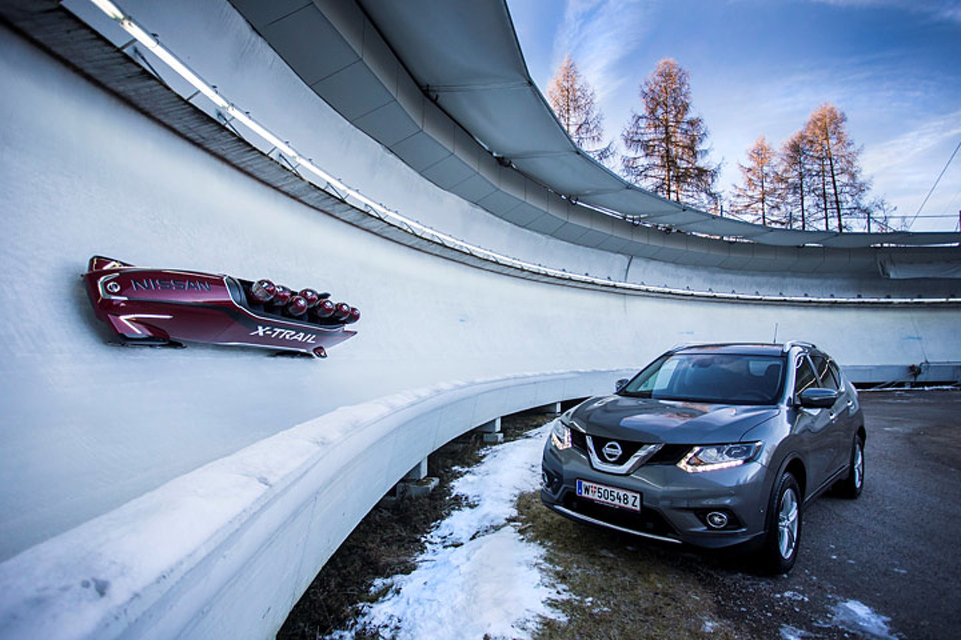Nissan Has Built the World's First Seven-Seat Bobsleigh