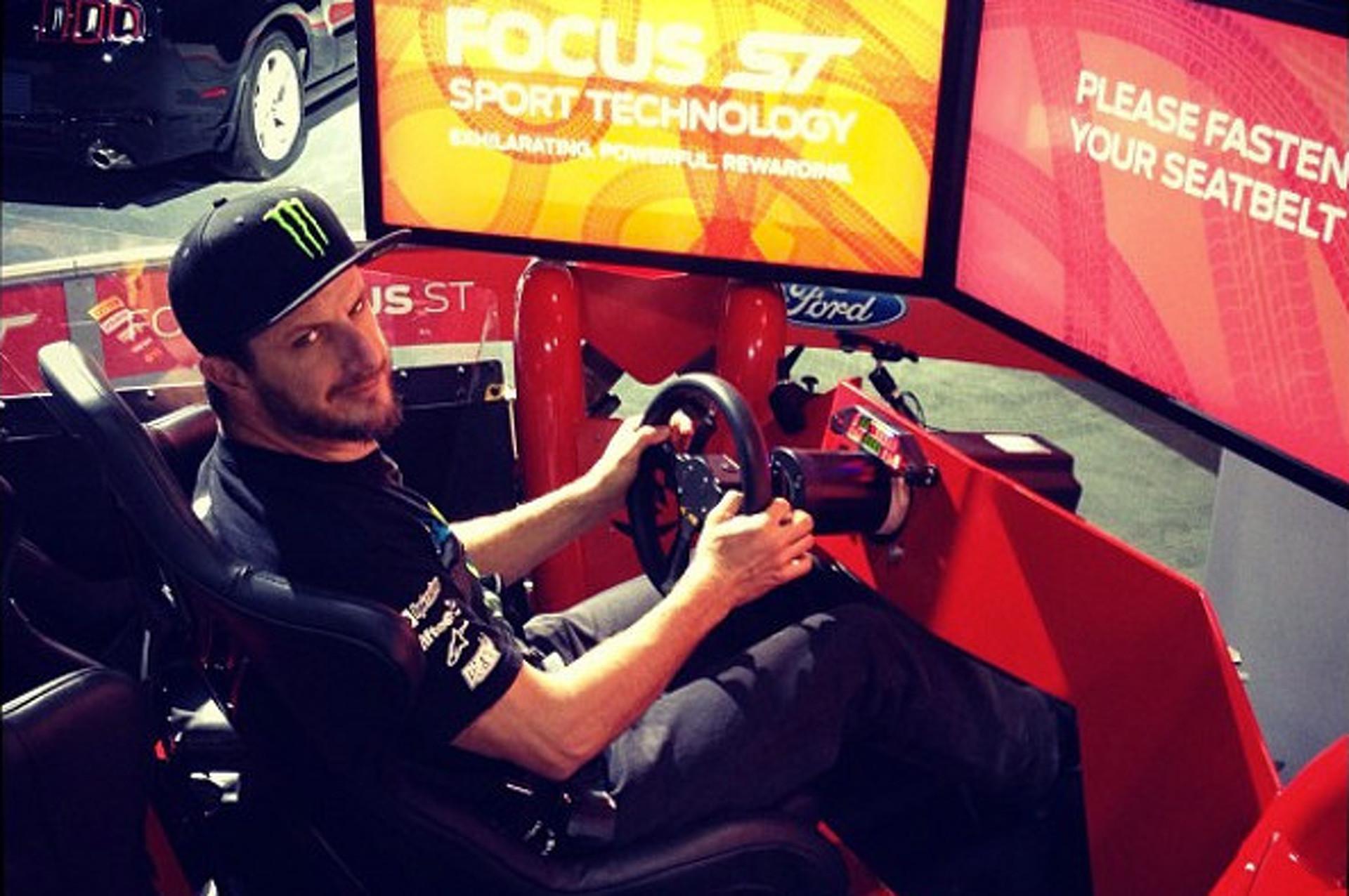 Ken Block Instagrammed In Focus ST Simulator, Rips Hole in Spacetime