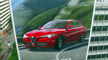 Watch hand-painted Alfa Romeo Stelvio Quadrifoglio mural come to life