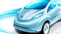 Nissan NV200 EV concept design sketch