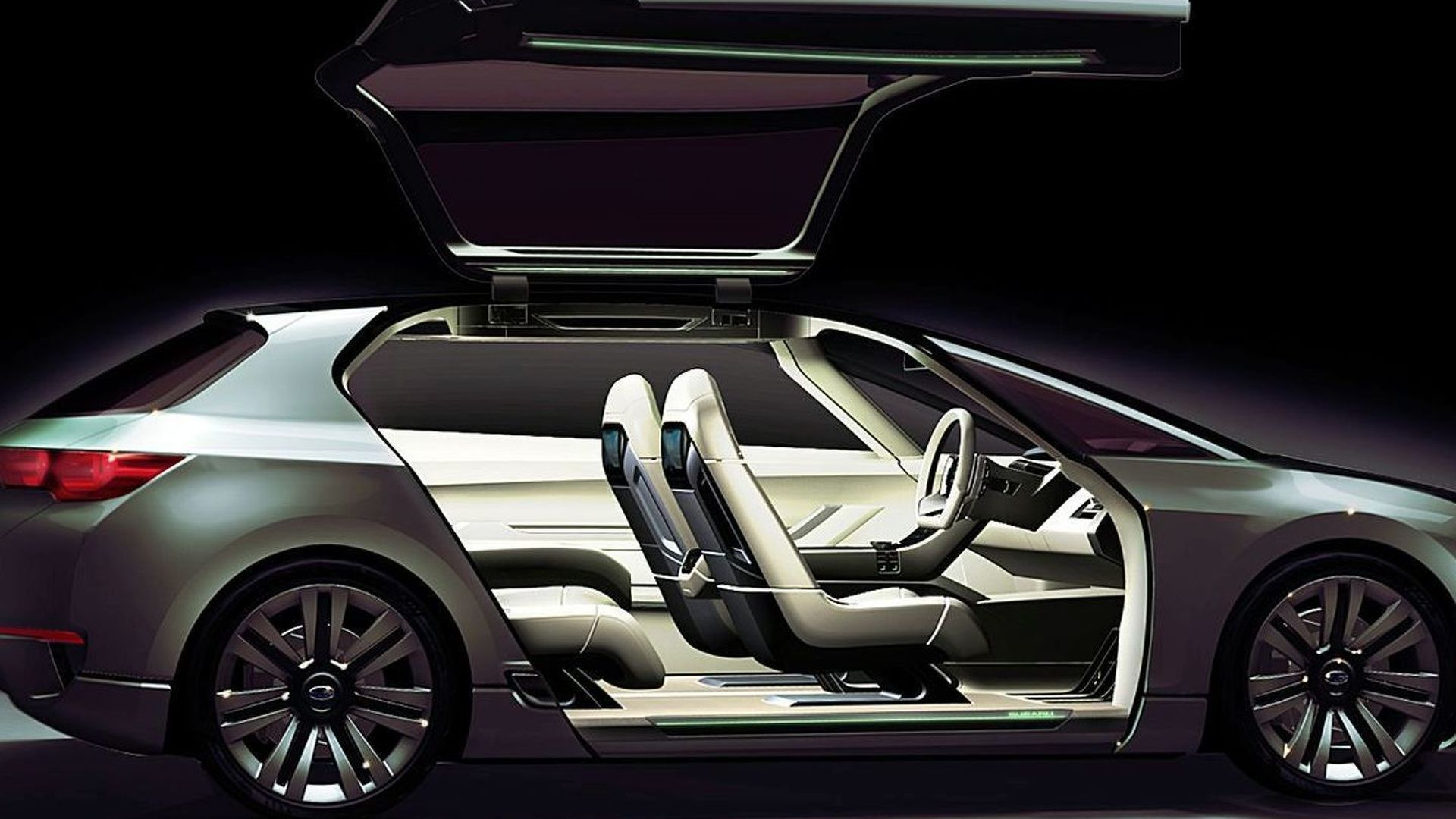 Subaru Hybrid Tourer Concept Revealed Ahead of Tokyo Debut