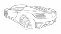 Acura NSX Roadster patent renderings leaked?