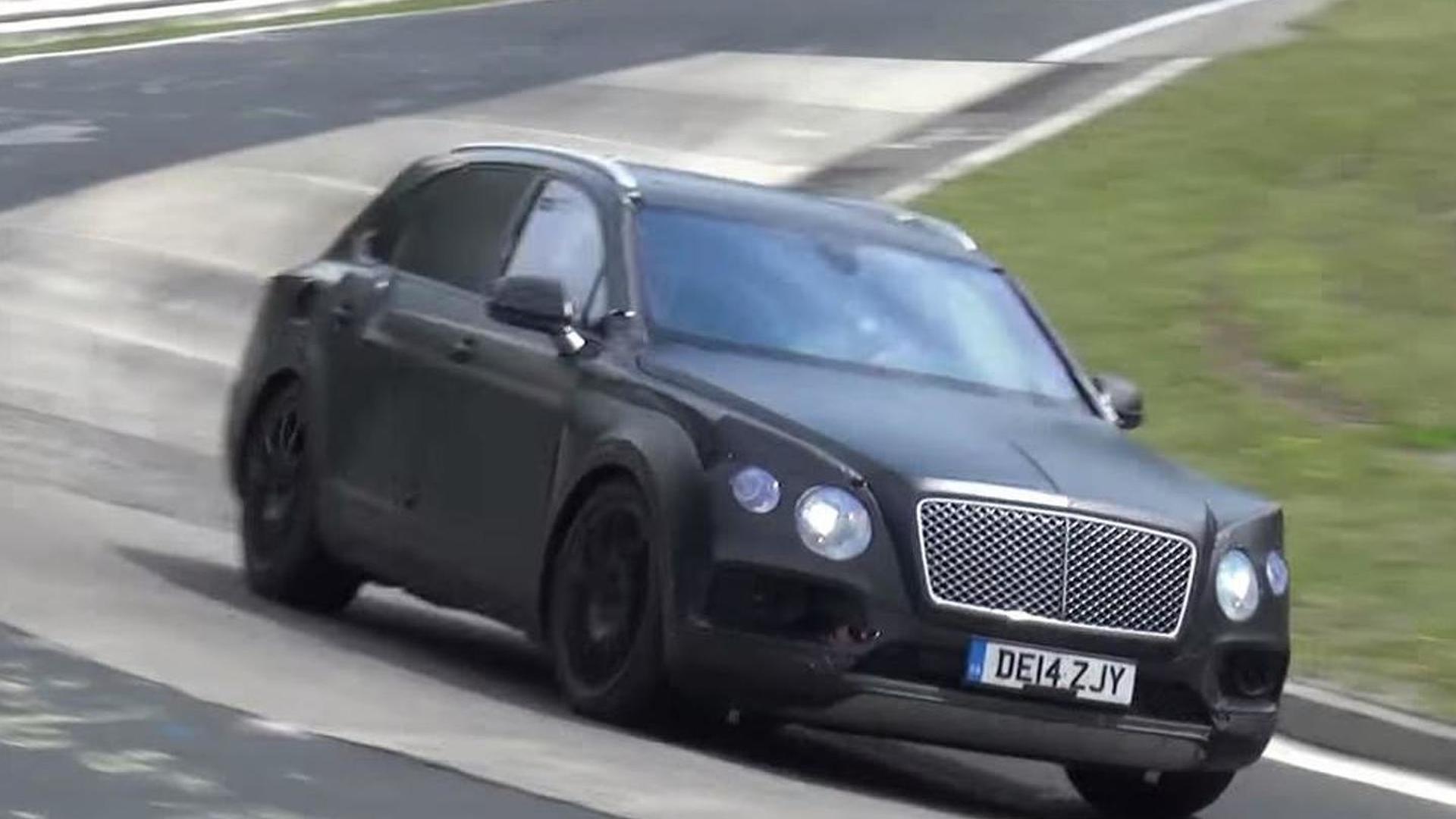 Bentley Bentayga continues Nurburgring testing [spy video]