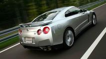 Nissan GT-R on track