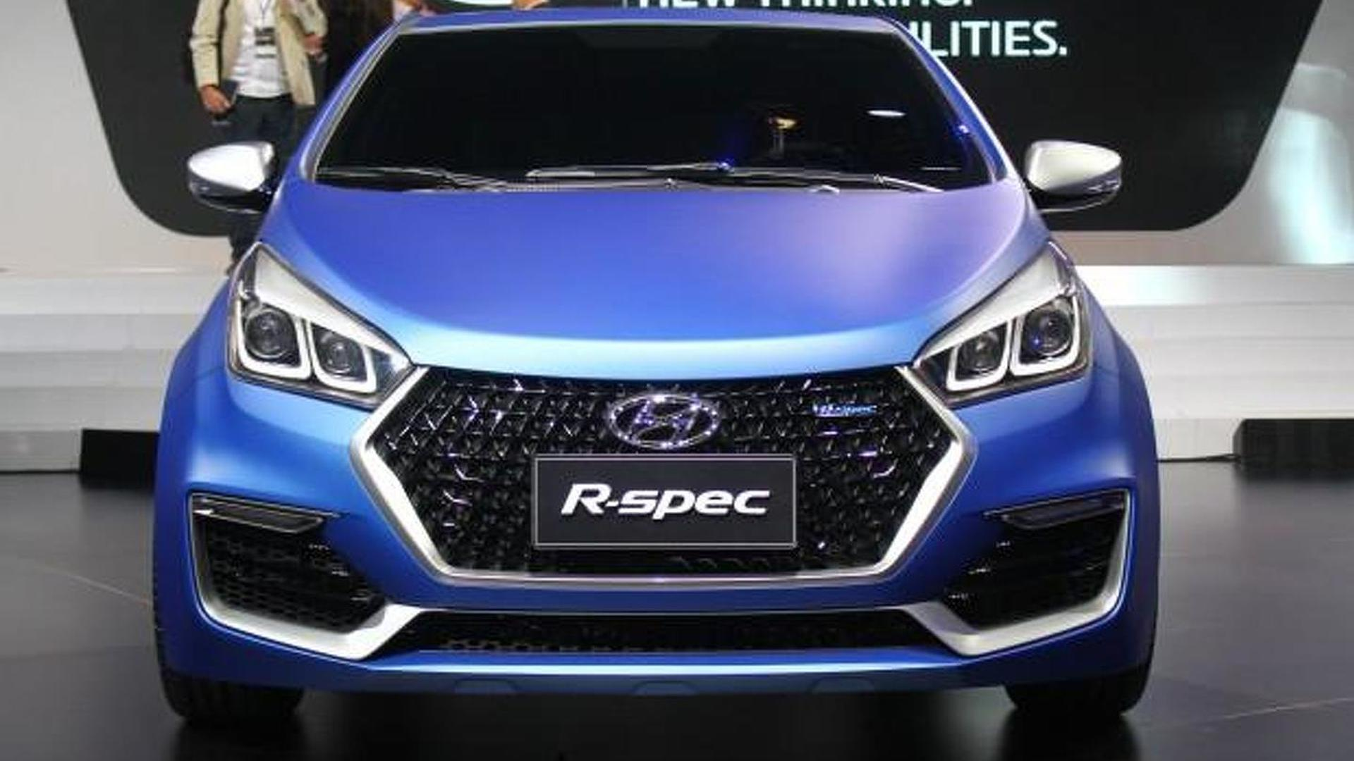 Hyundai HB20 R-Spec revealed in Sao Paulo