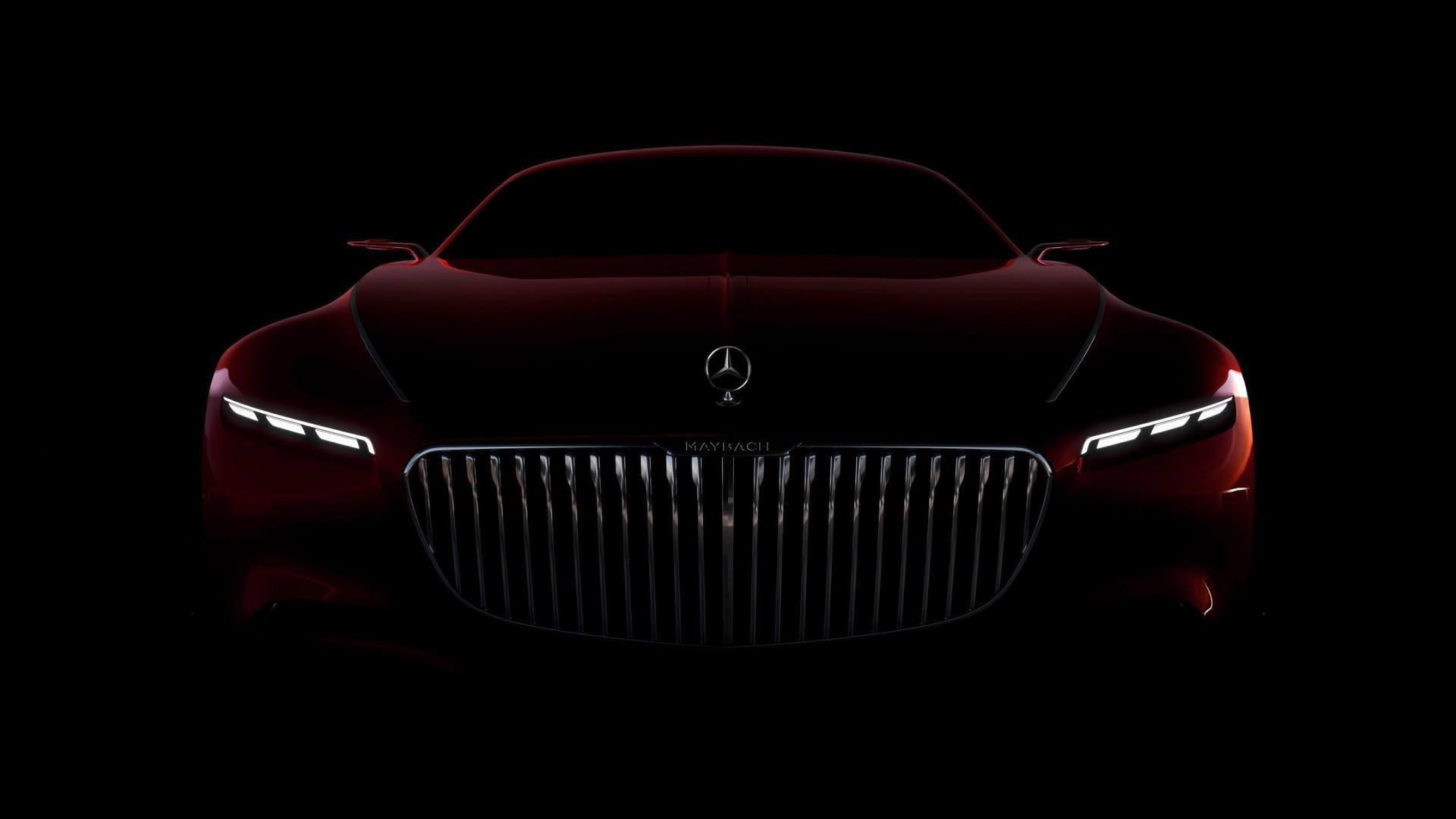 Vision Mercedes-Maybach 6 teaser shows spectacular front fascia