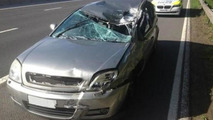 Crashed Vauxhall Vectra