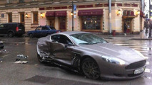 15-year-old Russian soccer player crashes new Aston Martin