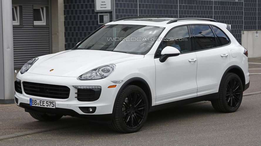 Barely disguised Porsche Cayenne facelift spied once more