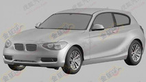 BMW 1 Series three-door hatchback leaked patent designs, 500, 28.12.2011