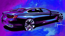 BMW Concept Gran Coupe, design sketch 07.05.2010