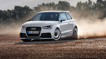 Audi A1 quattro goes drifting on snow [video]