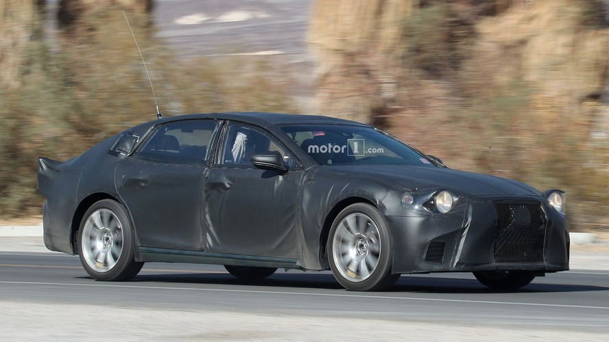 2018 Lexus LS spied benchmarking against the competition
