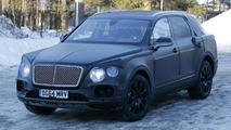 Bentley Bentayga spied up close with heavy camo