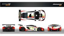 McLaren 650S GT3 wears tribute livery for Bruce McLaren team