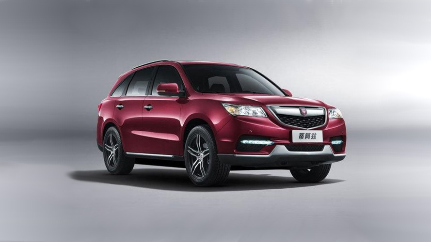 Chinese car maker rips off Acura MDX's design