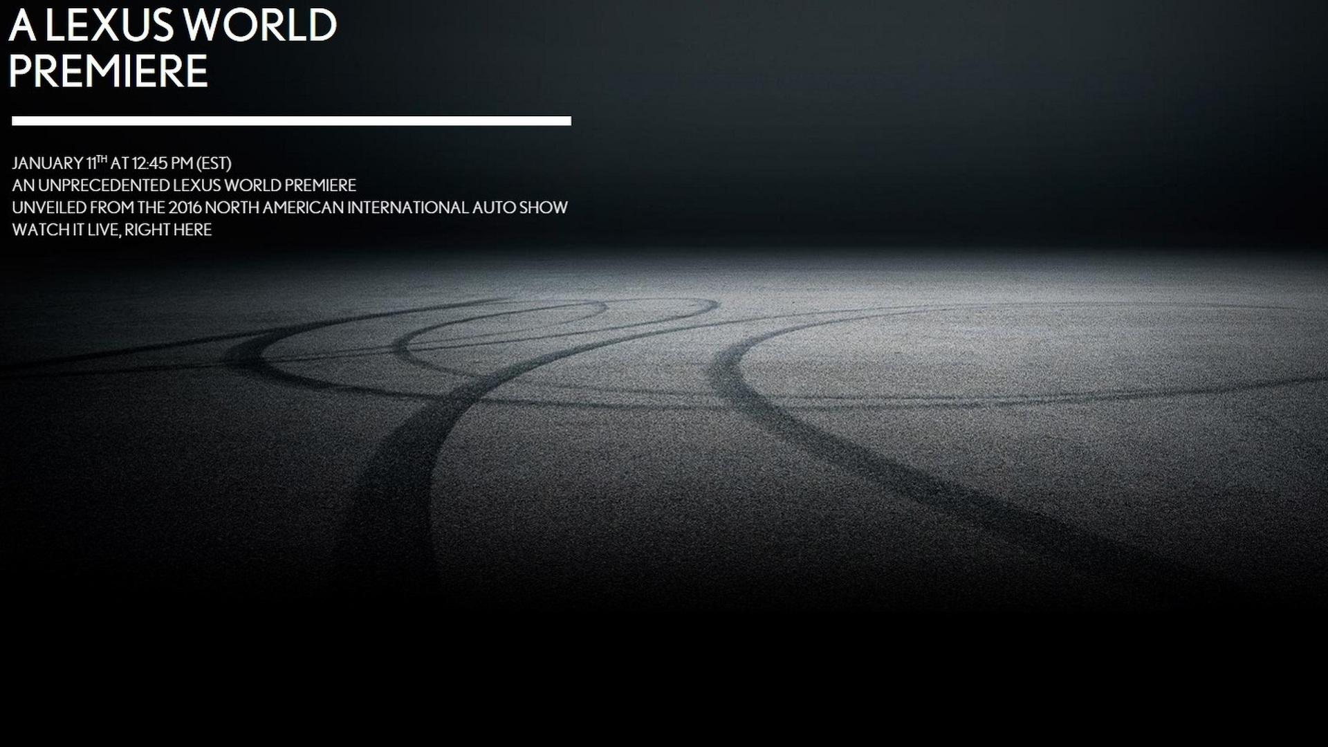 Lexus drops teaser for