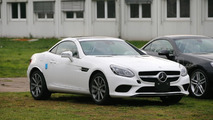 Mercedes SLC spied totally naked in several colors