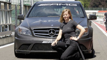 Susie Stoddart (GBR) as AMG Mercedes driving instructor,