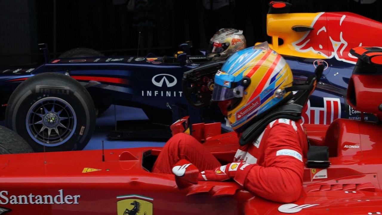 Sebastian Vettel and Fernando Alonso 28.10.2012 Indian Grand Prix