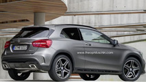 Mercedes-Benz GLA three-door envisioned as Range Rover Evoque rival