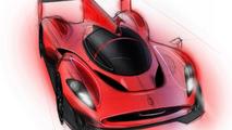 Glickenhaus releases Ferrari P4/5 LMP design sketches