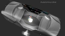 Apple Car 2076, smart glass