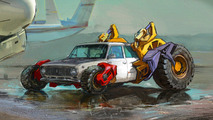 Zhiga Russian Monster Robot Car