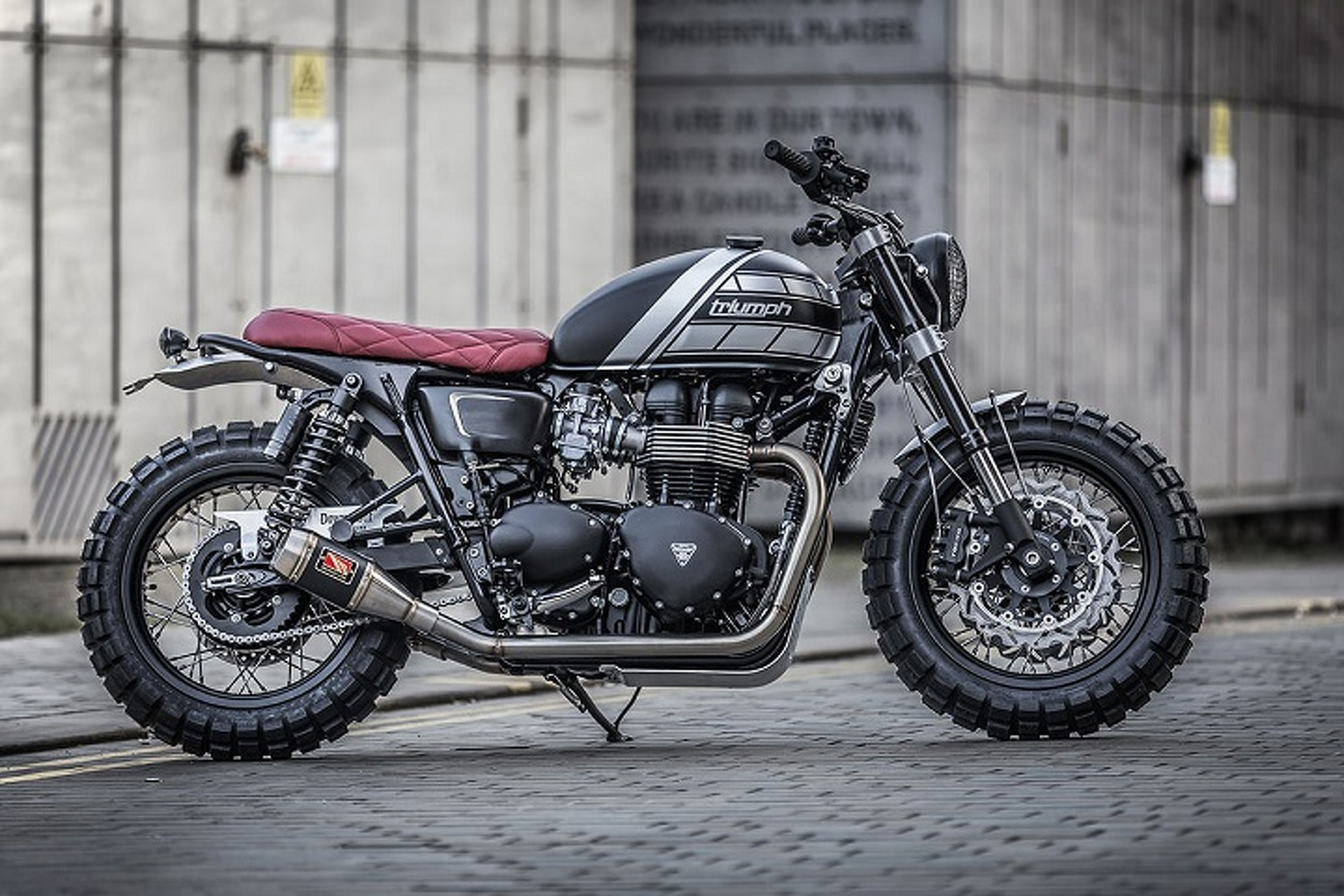 This Custom Triumph Bonneville T100 Got a Mean Makeover