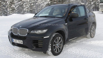 2013 BMW X6 Facelift caught cold weather testing